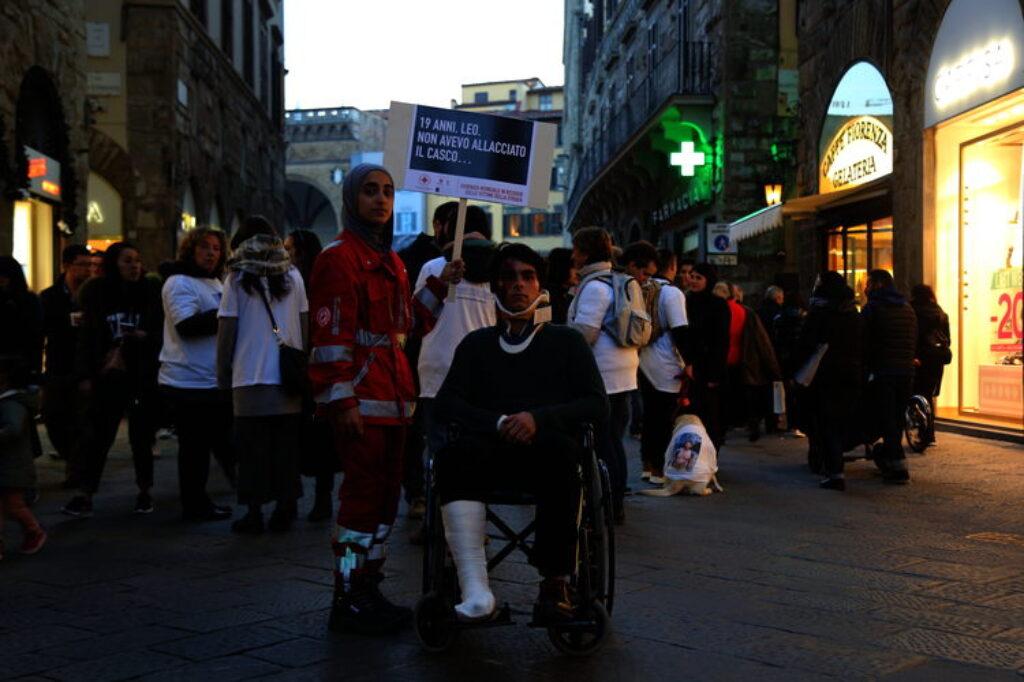 Giornata Mondiale in ricordo delle vittime della strada, CRI Firenze impegnata in attività di sensibilizzazione in piazza - Fondazione Matteo Ciappi